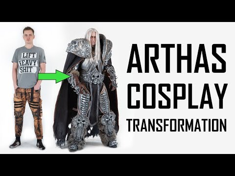 Arthas Cosplay Transformation