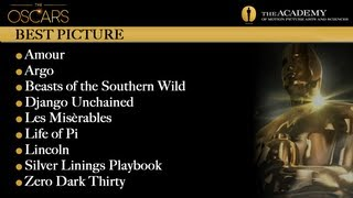Academy Awards 2013 Oscar Winners - Best Pictures
