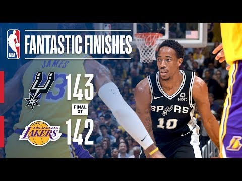 Video: The Spurs And Lakers Go All The Way Down To The Wire In OT | October 22, 2018