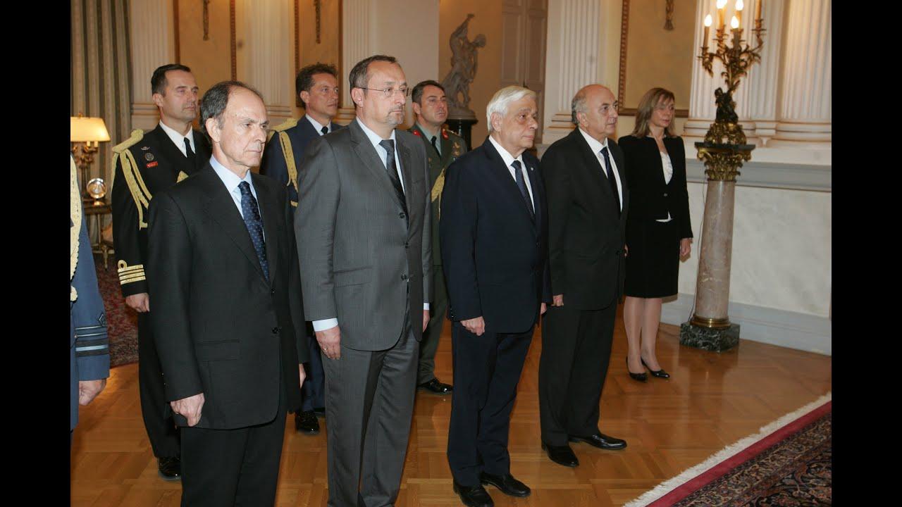 Ενός λεπτού σιγή στη μνήμη των θυμάτων, στο Προεδρικό Μέγαρο