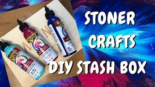 How to Decorate a Stash Box for your Stoner Accessories Using Unicorn Spit by Chronic Crafter