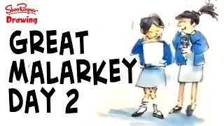 Day 2 of the Great Malarkey festival here in Hull - city of culture 2017. We've been having a great time and I've been drawing all day long   Have a look in my sketchbook and see what it's all about!#hullmalarkey #hull2015 #hullchallenge With award winning illustrator, Shoo RaynerYou can support my videos on Patreon ➡️ http://bit.ly/ShooPatreonPageSubscribe for lots more drawing :) ➡️ http://bit.ly/Sub2ShooEveryone asks about the tools I use when I'm out using my sketchbook. here's a video to show you what and how I use them. https://youtu.be/QJwjV1FKdygThe Pentel Aquash Brush is here in the Uk http://bit.ly/PentelAquabrushUKand here in the US   http://bit.ly/PentelAquashBrushUSARotring Tikky Graphic in the UK here http://bit.ly/TikkyGraphicUKin the USA http://bit.ly/TikkyGraphicUSThe Cotman sketching watercolour set is here in the UK http://amzn.to/1gNpZ8sand in the US here: http://amzn.to/1gaG6qAThe Seawhite of Brighton a5 travel journal is here in the Uk http://bit.ly/SeawhiteJournalUK and here in the USA http://bit.ly/SeawhiteA5JournalUSATwitter http://twitter.com/shooraynerGoogle+ https://plus.google.com/u/0/117947137150973770218Facebook http://www.facebook.com/profile.php?id=750207845Website http://www.shooraynerdrawing.commusic by http://www.youtube.com/cleffernotesShoo Rayner is an award-winning illustrator and author of over 200 books for children. The Shoo Rayner Drawing Channel won the 2011 YouTube NextUp award and is dedicated to teaching, promoting and inspiring drawing for everyone from beginners to experts who like to see how other people do what they do.Shoo believes that everyone can draw but they lose confidence at school when they think they have to make their drawings look perfect or in a recognised classic style.Drawing is just making marks on paper and you are allowed to draw anyway you likeDrawing is all about getting ideas out of you head and on to paper, it's about understanding how the world is put together and it's about having fun, with n