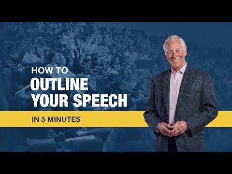 How to Outline Your Speech in 5 Minutes