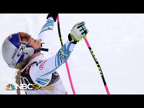 Lindsey Vonn's final downhill run of skiing career | NBC Sports