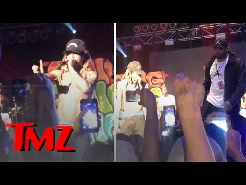 LIL WAYNE -- HERE COMES MY 'GOON SQUAD' ... That Flying Drink Was Too Close | TMZ (видео)