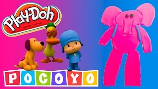 Play Doh Elly Shape DIY Pocoyo Play Dough Elly De Plastilina  Пластилін Покојо Let's Go Pocoyo