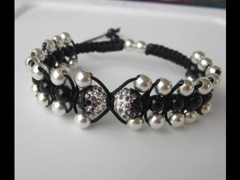 macramè - elegante braccialetto shamballa