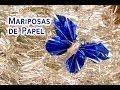 Mariposas de Papel Faciles de Hacer - YouTube