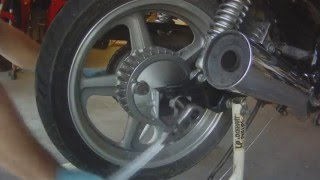9. 2001 Honda CB 750 Nighthawk Rear Wheel Removal Replacement