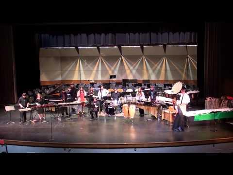 HM Jackson High School - Final Concert 2013-2014; Percussion Ensemble - Salsa Para La Morena