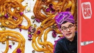 Jalebi Recipe - Sticky Indian Doughnuts!! | FridgeCam by SORTEDfood