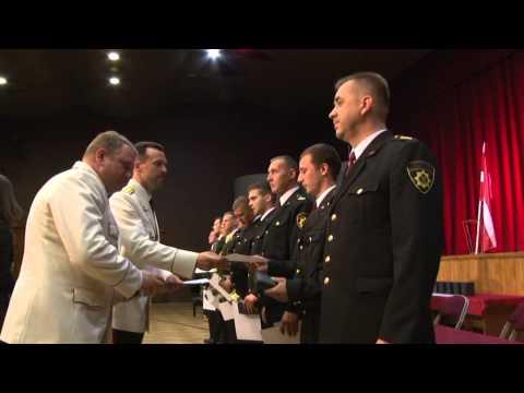 Video: Valmierā sveic Vidzemes labākos ugunsdzēsējus, glābējus