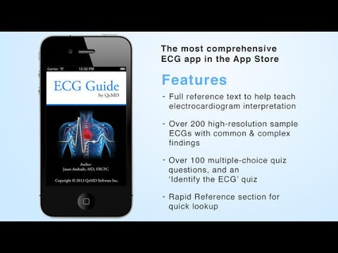 ECG Guide Trailer Medical app For Iphone ( paid 0,99$ )