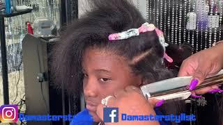 Video Detailed silk press on damaged hair | Silk press on natural hair MP3, 3GP, MP4, WEBM, AVI, FLV Agustus 2019