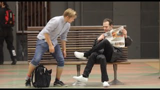 Video Three legged Man PRANK!👟👟👟-Julien Magic MP3, 3GP, MP4, WEBM, AVI, FLV Oktober 2018