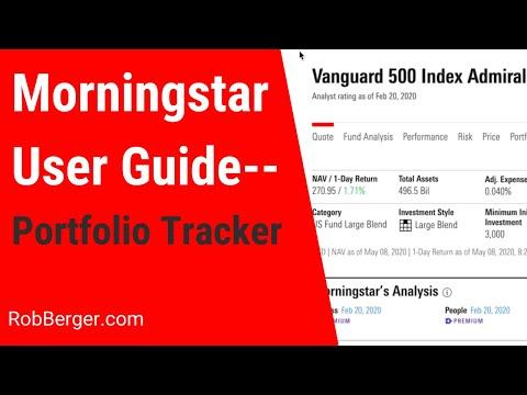 Morningstar Portfolio Tracker [Video  #5]