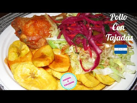 How to make Pollo con Tajadas (Honduran)