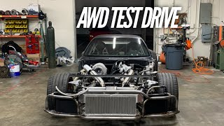 First AWD RX-7 Test Drive. Wheels finally spin the same speed. by Rob Dahm