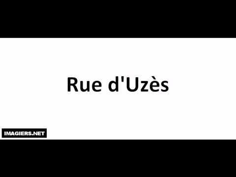Jak wymówić Rue d'Uzès