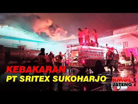 Gudang Kapas PT Sritex Sukoharjo Terbakar