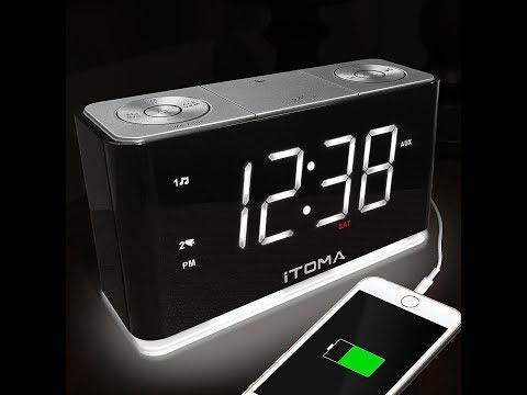 Sveglia radio sveglia FM Orologio da parete orologio