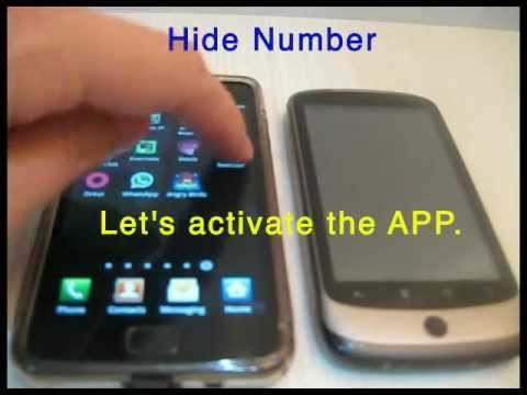 Video of Hide Number (Caller Id)