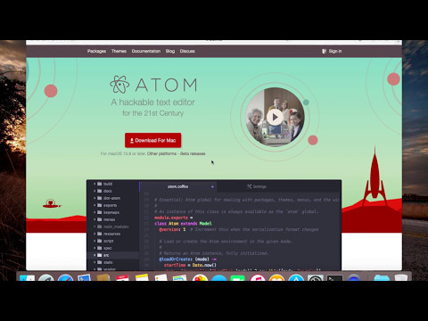 How to install Atom Editor on Mac Os.