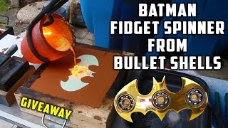 Video Casting Brass Batman Fidget Spinner from Bullet Shells MP3, 3GP, MP4, WEBM, AVI, FLV Juli 2017
