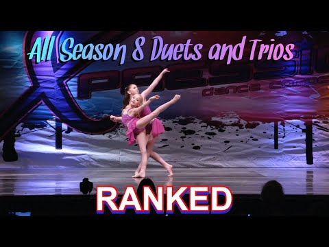 ALL Season 8 Duet/Trios RANKED 9-1//Dance Moms