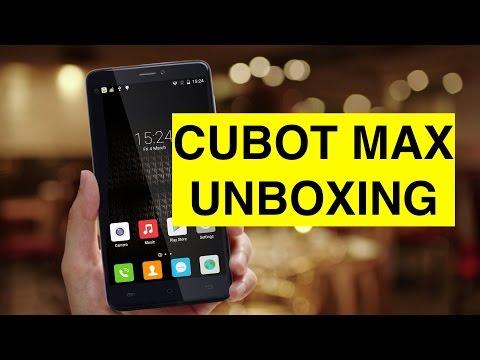 Unboxing Cubot Max e primo avvio