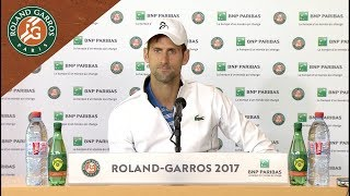Novak Djokovic - Press Conference after Loss to Thiem | French Open 2017