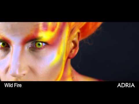 Crazy Wild fire - цветные линзы Adria, видео в линзах