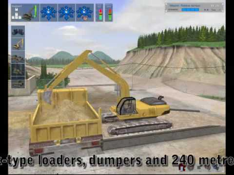PC video game Digger Simulator - control your own earth moving equipment game