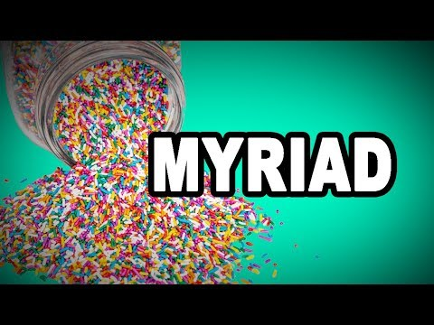 Learn English Words: MYRIAD - Meaning, Vocabulary with Pictures and Examples