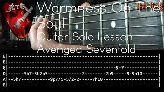 Warmness On The Soul Guitar Solo Lesson - Avenged Sevenfold (with tabs)