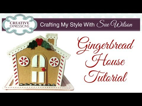 How To Make a Paper Gingerbread House   Crafting My Style with Sue Wilson
