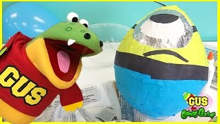 HUGE EGG SURPRISE Minion Despicable Me DIY Easter Egg Surprise Toys Kids Video