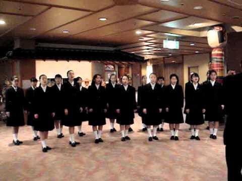 岐阜大学教育学部附属中学校合唱部の皆様の合唱(1泊目)