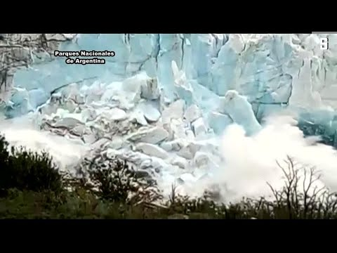 Naturschauspiel in Argentinien: Gletscherfront stürzt ...