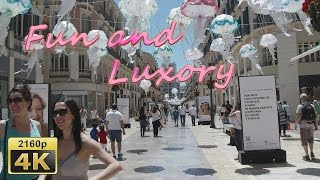 Malaga Spain  city photos : From the Beach to the Center of Malaga - Spain 4K Travel Channel