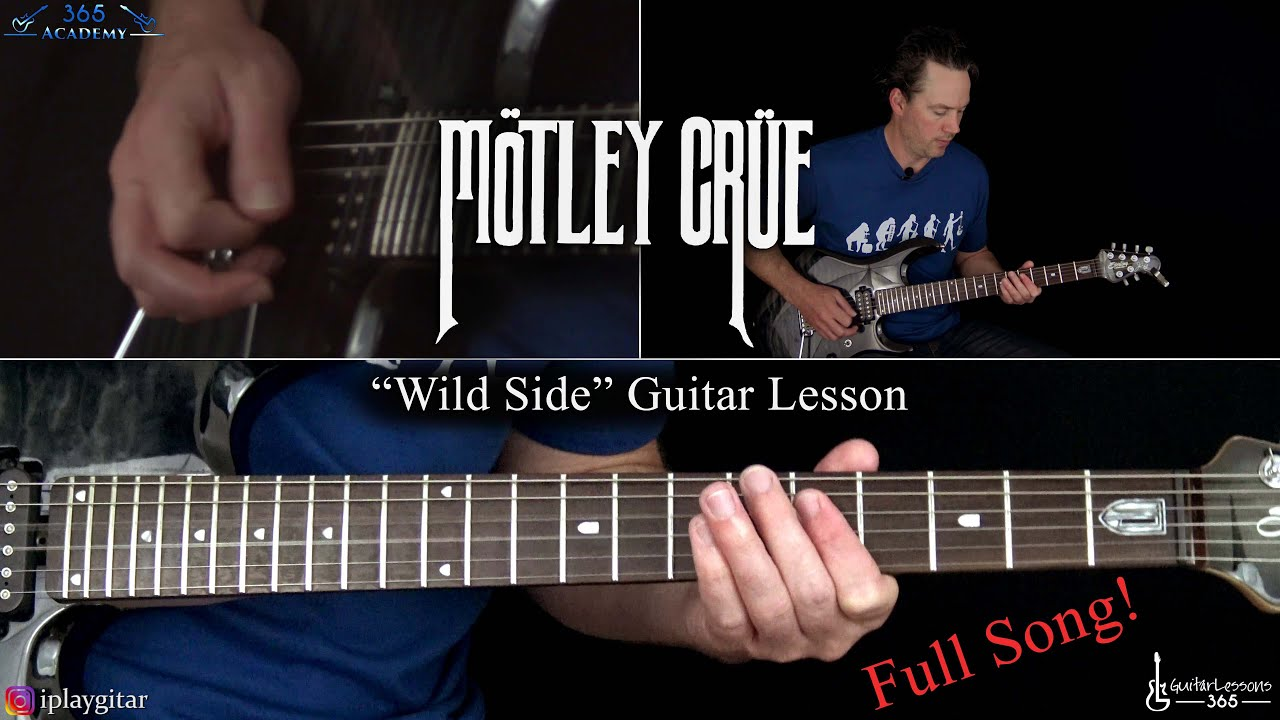 Motley Crue – Wild Side Guitar Lesson (Full Song)