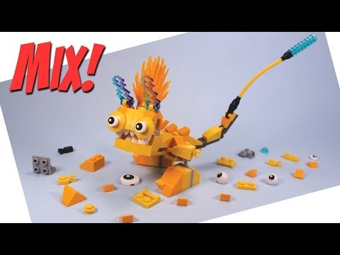 Lego Mixels Series 1 Yellow Electroids Teslo Zaptor and Volectro Opening