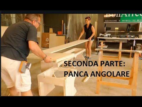 Seconda parte: PANCA ANGOLARE IN ABETE giropanca WOOD legno DIY faidate FALEGNAME