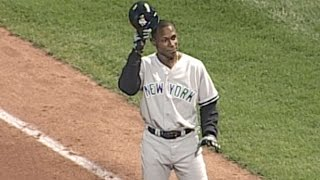 8/25/04: Yankees outfielder Kenny Lofton records the 2000th hit of his Major League career Check out http://m.mlb.com/video for ...