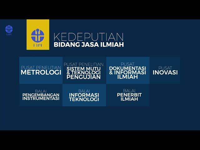 COMPANY PROFILE KEDEPUTIAN BIDANG JASA ILMIAH LIPI
