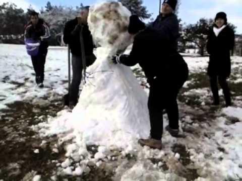 Boneco de neve-Monte Castelo SC 2013