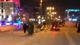انقلاب شاب أثناء التفحيط بـ دباب في مكان مخصص للمشاة