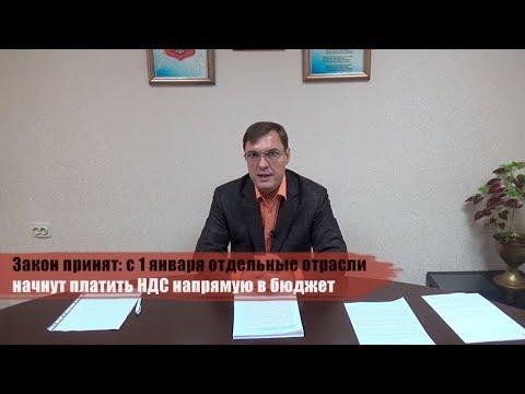 Закон принят: с 1 января отдельные отрасли начнут платить НДС напрямую в бюджет - DomaVideo.Ru