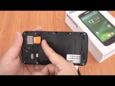 Hướng dẫn lắp Sim và Thẻ nhớ Philips V387 | www.thegioididong.com