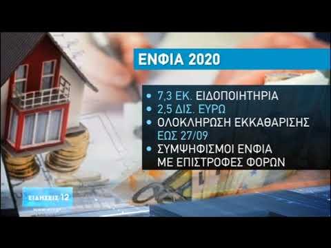 ΕΝΦΙΑ: Έρχεται μετ' εμποδίων στο Τaxisnet | 26/09/2020 | ΕΡΤ